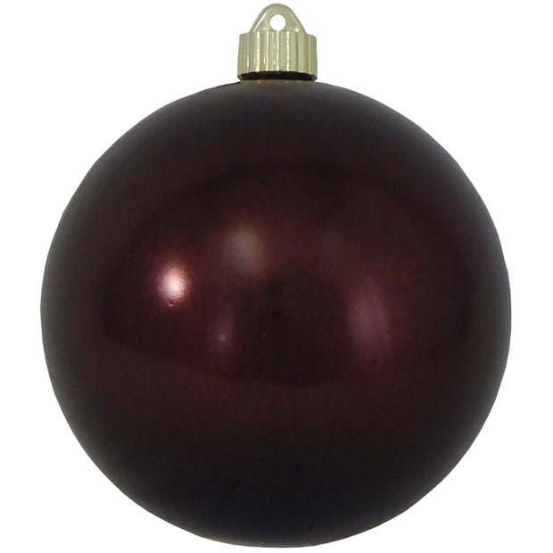 "6"" (150mm) Commercial Shatterproof Ball Ornament, Shiny Hot Java Brown, 2 per Bag, 6 Bags per Case, 12 Pieces - Christmas by Krebs Wholesale"