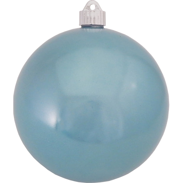 "6"" (150mm) Commercial Shatterproof Ball Ornament, Shiny Lagoon Blue, 2 per Bag, 6 Bags per Case, 12 Pieces"