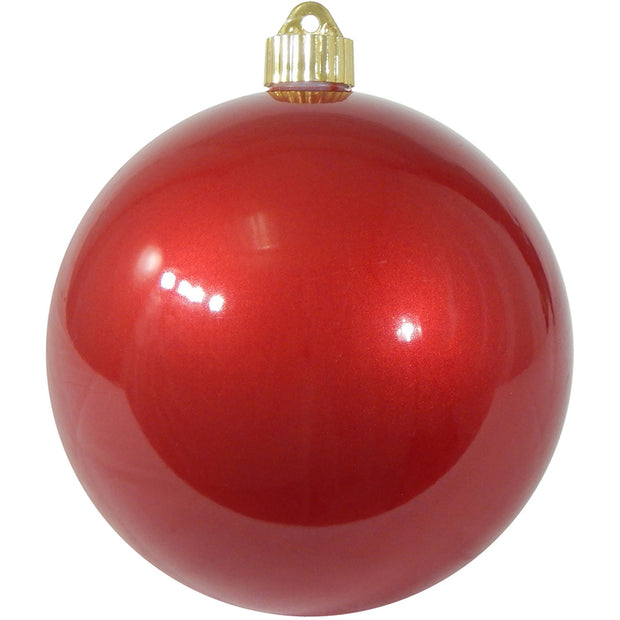 "6"" (150mm) Commercial Shatterproof Ball Ornament, Candy Red, 2 per Bag, 6 Bags per Case, 12 Pieces - Christmas by Krebs Wholesale"