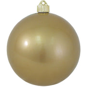 "6"" (150mm) Commercial Shatterproof Ball Ornament, Candy Gold, 2 per Bag, 6 Bags per Case, 12 Pieces"