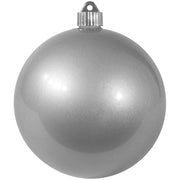 "6"" (150mm) Commercial Shatterproof Ball Ornament, Candy Silver, 2 per Bag, 6 Bags per Case, 12 Pieces"
