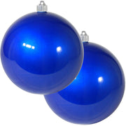 "6"" (150mm) Commercial Shatterproof Ball Ornament, Candy Blue, 2 per Bag, 6 Bags per Case, 12 Pieces"