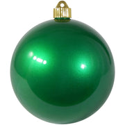 "6"" (150mm) Commercial Shatterproof Ball Ornament, Candy Green, 2 per Bag, 6 Bags per Case, 12 Pieces"