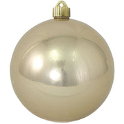 "6"" (150mm) Commercial Shatterproof Ball Ornament, Shiny Champagne Shine Brown, 2 per Bag, 6 Bags per Case, 12 Pieces"