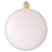 "6"" (150mm) Commercial Shatterproof Ball Ornament, Matte Cloud White, 2 per Bag, 6 Bags per Case, 12 Pieces"