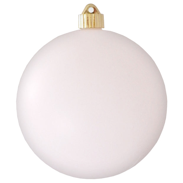 "6"" (150mm) Commercial Shatterproof Ball Ornament, Matte Cloud White, 2 per Bag, 6 Bags per Case, 12 Pieces - Christmas by Krebs Wholesale"