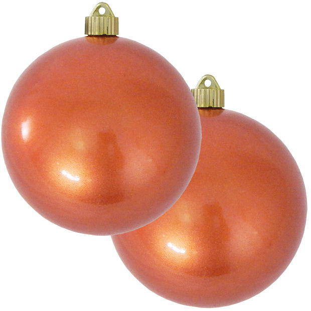 "6"" (150mm) Commercial Shatterproof Ball Ornament, Candy Copper Brown, 2 per Bag, 6 Bags per Case, 12 Pieces"