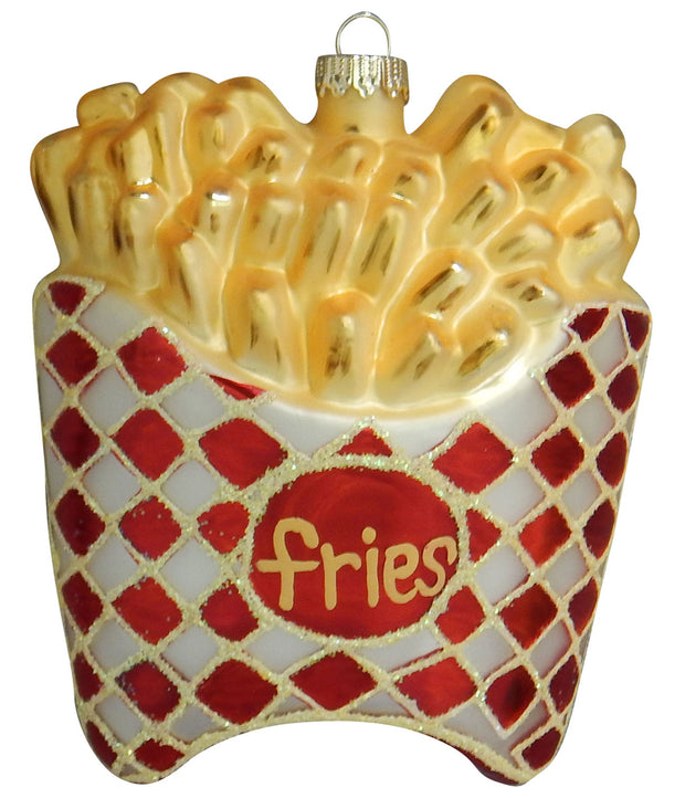 "3 3/4"" (95mm) French Fries Figurine Ornaments, 1/Box, 6/Case, 6 Pieces"