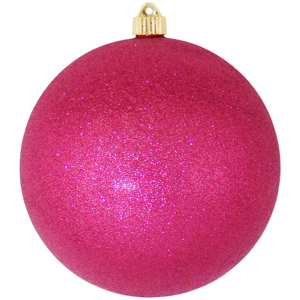 "8"" (200mm) Giant Commercial Shatterproof Ball Ornament, Cabernet Glitter, Case, 6 Pieces - Christmas by Krebs Wholesale"