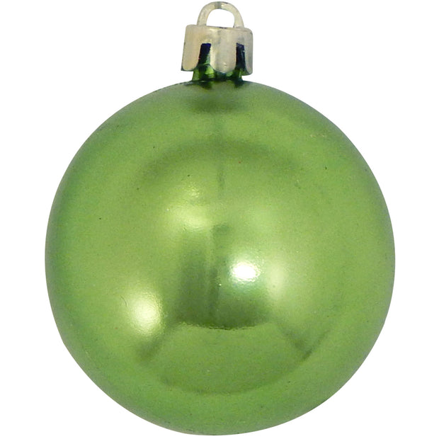"2 1/3"" (60mm) Shatterproof Christmas Ball Ornaments, Limeade, Case, 16 Count x 12 Tubs, 192 Pieces   Christmas by Krebs Wholesale"