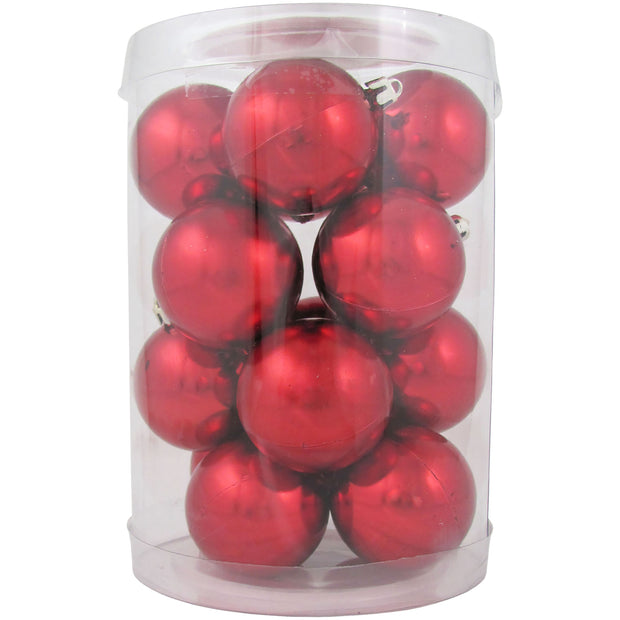 "2 1/3"" (60mm) Shatterproof Christmas Ball Ornaments, Sonic Red, Case, 16 Count x 12 Tubs, 192 Pieces"