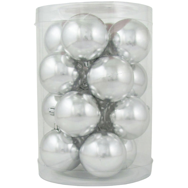 "2 1/3"" (60mm) Shatterproof Christmas Ball Ornaments, Looking Glass, Case, 16 Count x 12 Tubs, 192 Pieces"