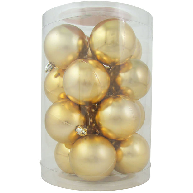 "2 1/3"" (60mm) Shatterproof Christmas Ball Ornaments, Gilded Gold, Case, 16 Count x 12 Tubs, 192 Pieces"