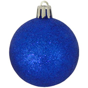 "2 1/3"" (60mm) Shatterproof Christmas Ball Ornaments, Blue Multi, Case, 16 Count x 12 Tubs, 192 Pieces"
