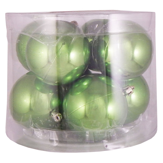 "3 1/4"" (80mm) Commercial Shatterproof Ball Ornament, Limeade, Case, 80 Pieces - Christmas by Krebs Wholesale"