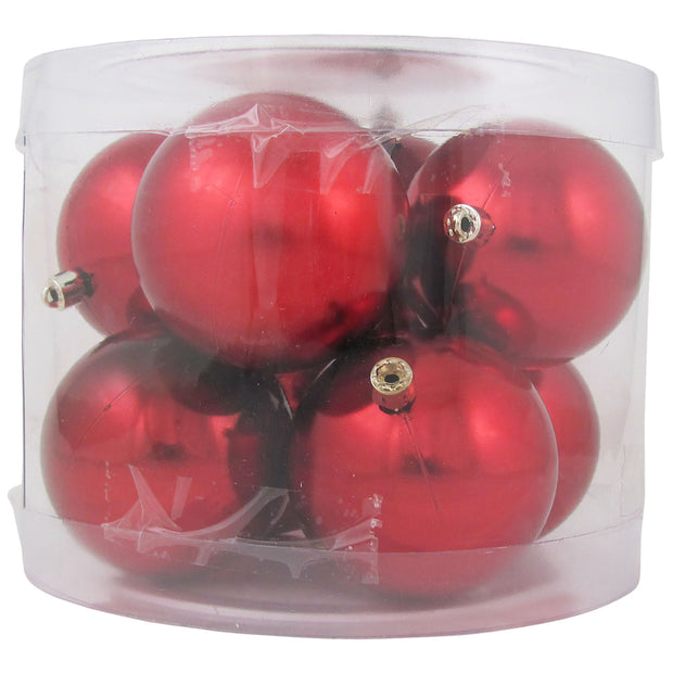 "3 1/4"" (80mm) Commercial Pre-Wired Shatterproof Ball Ornament, Sonic Red, Case, 80 Pieces - Christmas by Krebs Wholesale"