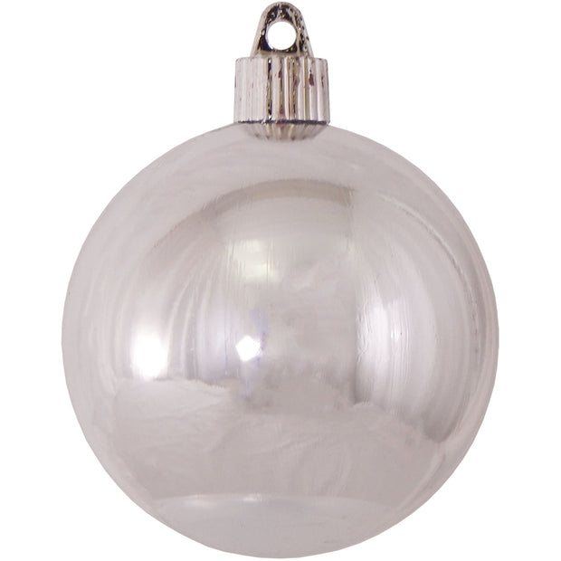 "3 1/4"" (80mm) Commercial Pre-Wired Shatterproof Ball Ornament, Looking Glass, Case, 80 Pieces - Christmas by Krebs Wholesale"