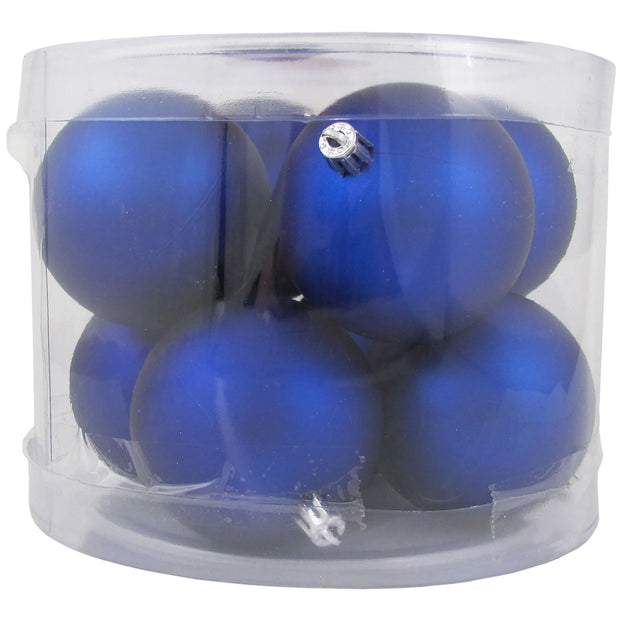"3 1/4"" (80mm) Commercial Shatterproof Ball Ornament, Regal Blue, Case, 80 Pieces"