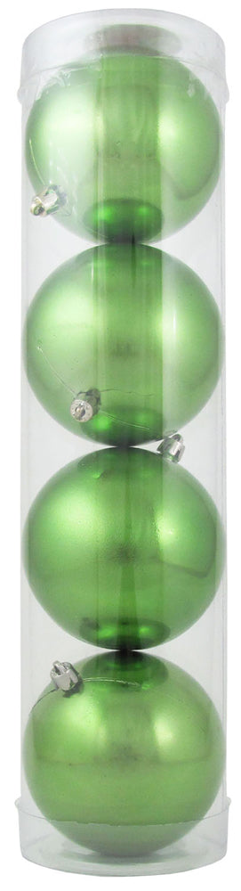 "4"" (100mm) Large Commercial Shatterproof Ball Ornament, Limeade, Case, 48 Pieces - Christmas by Krebs Wholesale"