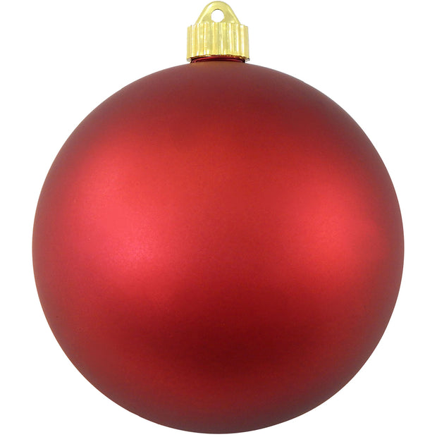 "6"" (150mm) Giant Commercial Pre-Wired Shatterproof Ball Ornament, Red Alert, Case, 12 Pieces"