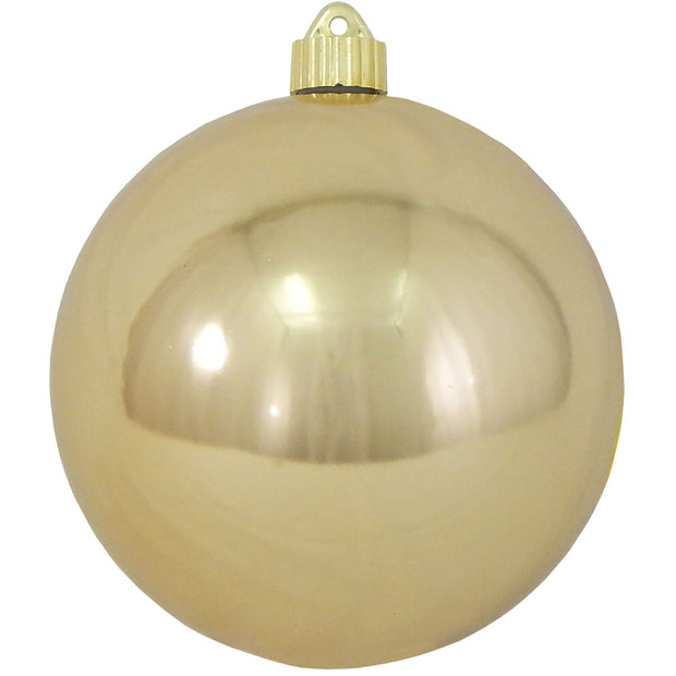 "6"" (150mm) Giant Commercial Shatterproof Ball Ornament, Gilded Gold, Case, 12 Pieces"