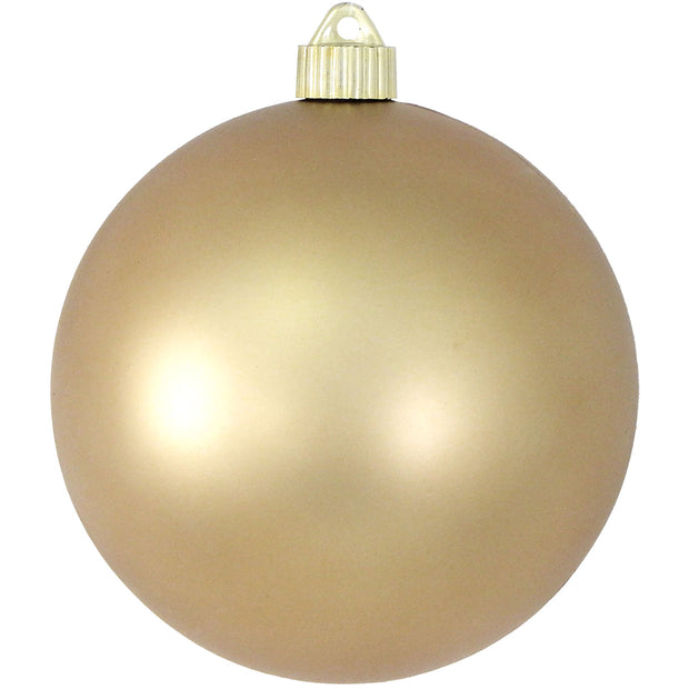 "6"" (150mm) Giant Commercial Shatterproof Ball Ornament, Gold Dust, Case, 12 Pieces"