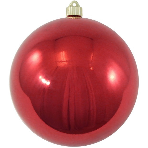 "8"" (200mm) Giant Commercial Pre-Wired Shatterproof Ball Ornament, Sonic Red, Case, 6 Pieces"