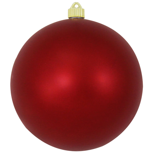 "8"" (200mm) Giant Commercial Shatterproof Ball Ornament, Red Alert, Case, 6 Pieces"