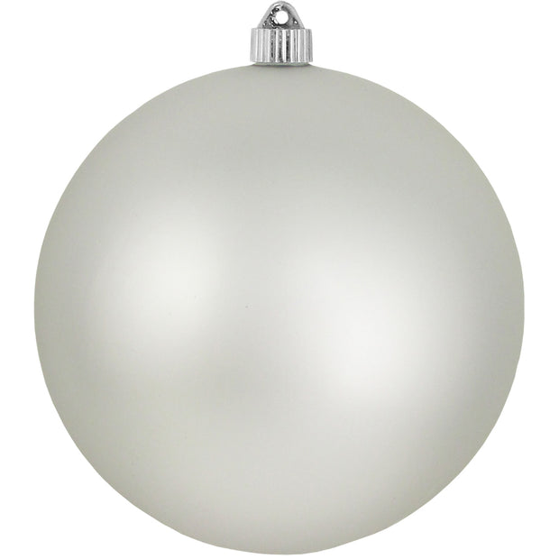 "8"" (200mm) Giant Commercial Shatterproof Ball Ornament, Dove Gray, Case, 6 Pieces"