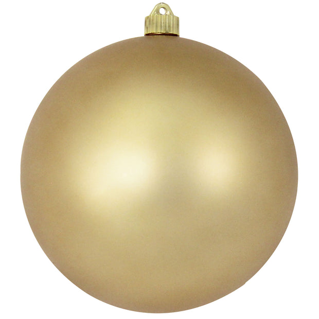 "8"" (200mm) Giant Commercial Shatterproof Ball Ornament, Gold Dust, Case, 6 Pieces"