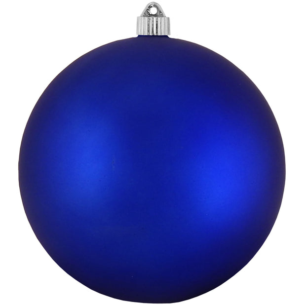 "8"" (200mm) Giant Commercial Shatterproof Ball Ornament, Regal Blue, Case, 6 Pieces"