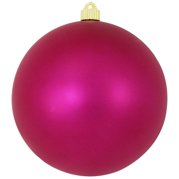 "8"" (200mm) Giant Commercial Shatterproof Ball Ornament, Glamour, Case, 6 Pieces"