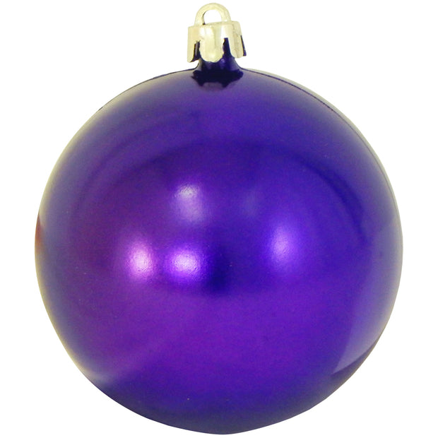 "3 1/4"" (80mm) Commercial Shatterproof Ball Ornament, Vivacious Purple, Case, 80 Pieces"