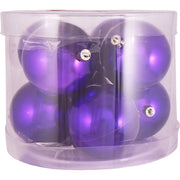 "3 1/4"" (80mm) Commercial Pre-Wired Shatterproof Ball Ornament, Vivacious Purple, Case, 80 Pieces"