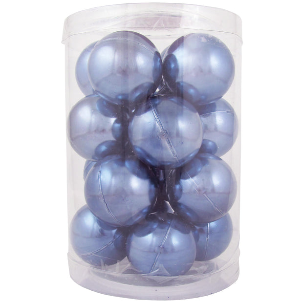"2 1/3"" (60mm) Shatterproof Christmas Ball Ornaments, Polar Blue, Case, 16 Count x 12 Tubs, 192 Pieces"