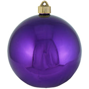 "6"" (150mm) Giant Commercial Pre-Wired Shatterproof Ball Ornament, Vivacious Purple, Case, 12 Pieces"