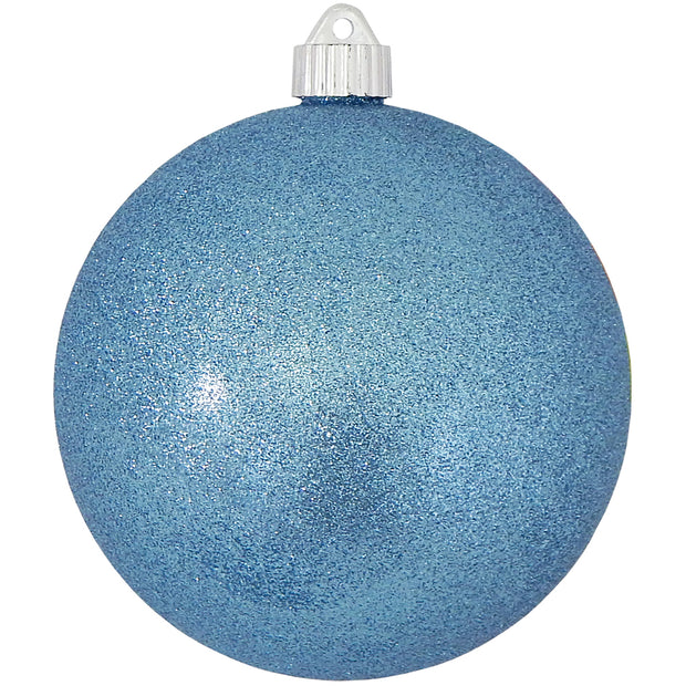 "6"" (150mm) Large Commercial Shatterproof Ball Ornaments, Light Blue, 1/Box, 12/Case, 12 Pieces - Christmas by Krebs Wholesale"