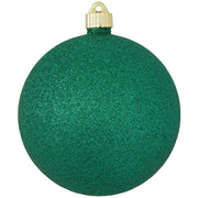 "6"" (150mm) Giant Commercial Pre-Wired Shatterproof Ball Ornament, Emerald Glitter, Case, 12 Pieces - Christmas by Krebs Wholesale"