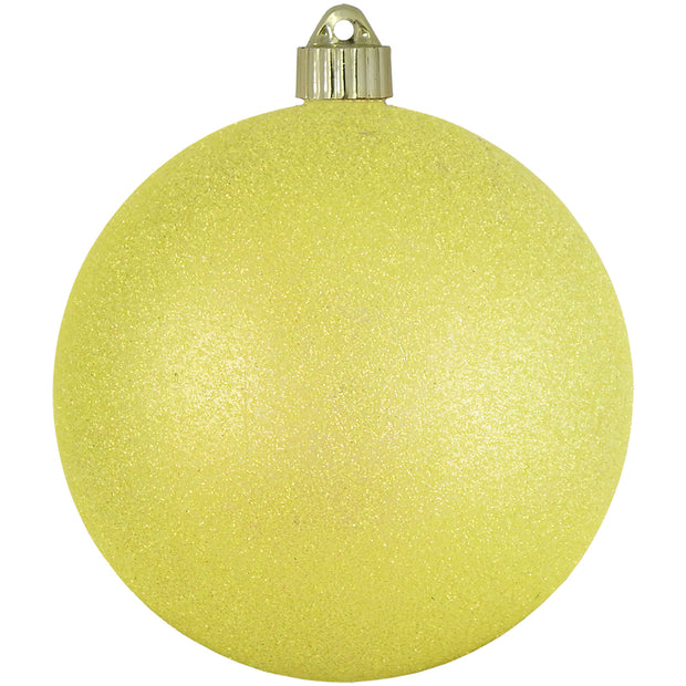 "6"" (150mm) Large Commercial Shatterproof Ball Ornaments, Neon Yellow, 1/Box, 12/Case, 12 Pieces - Christmas by Krebs Wholesale"