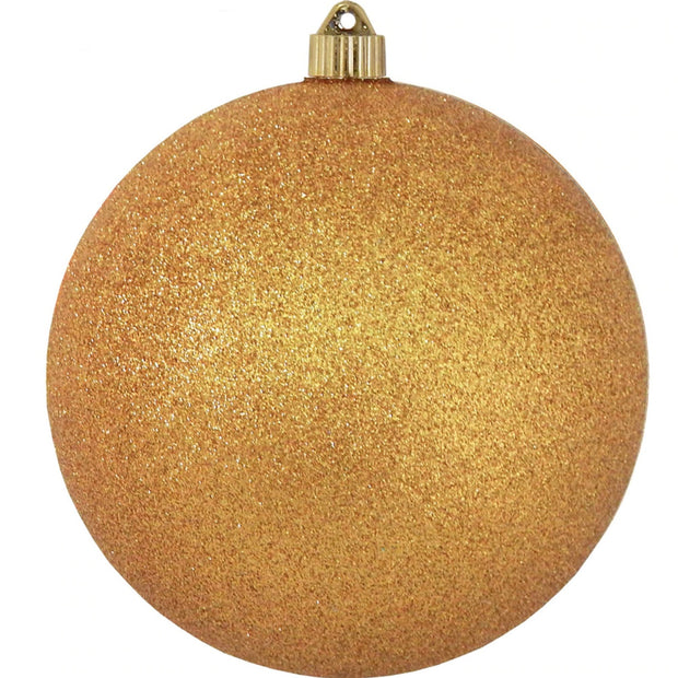 "6"" (150mm) Large Commercial Shatterproof Ball Ornaments, Antique Gold Orange, 1/Box, 12/Case, 12 Pieces"