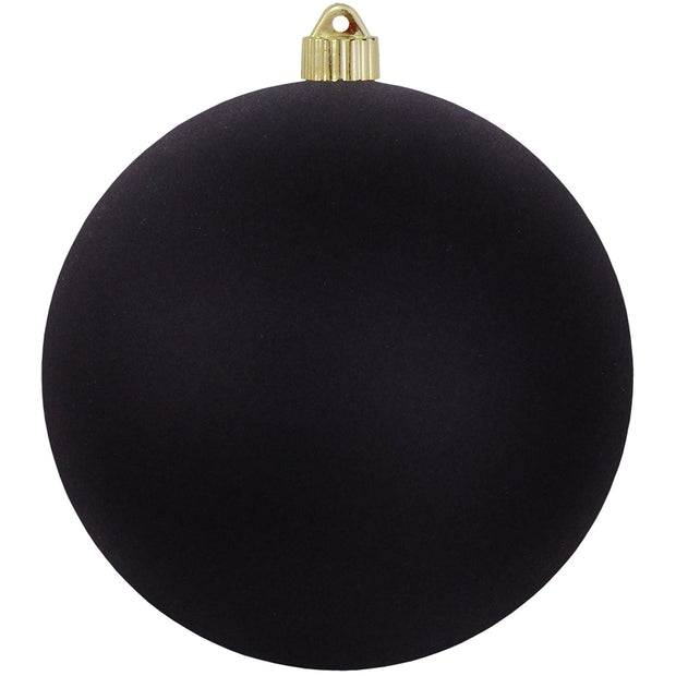 "8"" (200mm) Giant Commercial Shatterproof Ball Ornament, Soot, Case, 6 Pieces"