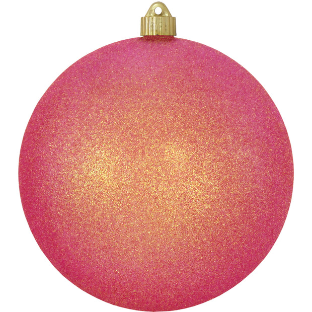 "8"" (200mm) Giant Commercial Shatterproof Ball Ornament, Fire Glitter, Case, 6 Pieces - Christmas by Krebs Wholesale"