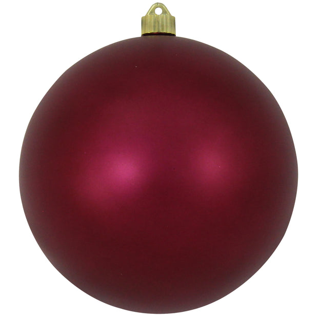 "8"" (200mm) Giant Commercial Shatterproof Ball Ornament, Bayberry, Case, 6 Pieces"
