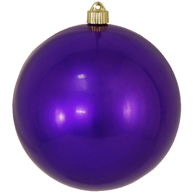 "8"" (200mm) Giant Commercial Pre-Wired Shatterproof Ball Ornament, Vivacious Purple, Case, 6 Pieces"
