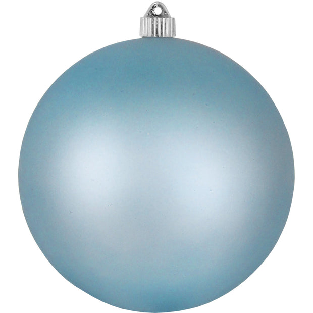 "8"" (200mm) Giant Commercial Shatterproof Ball Ornament, Arctic Chill, Case, 6 Pieces"