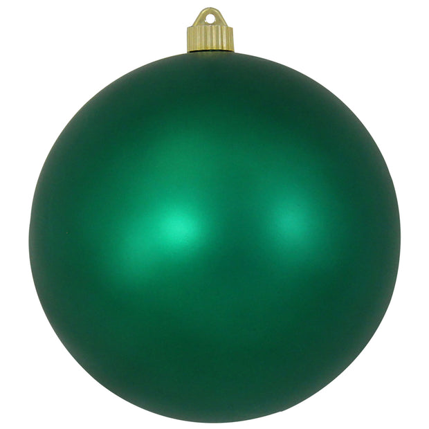 "8"" (200mm) Giant Commercial Shatterproof Ball Ornament, Shamrock, Case, 6 Pieces"