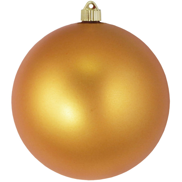 "8"" (200mm) Giant Commercial Shatterproof Ball Ornament, Imperial Gold, Case, 6 Pieces"