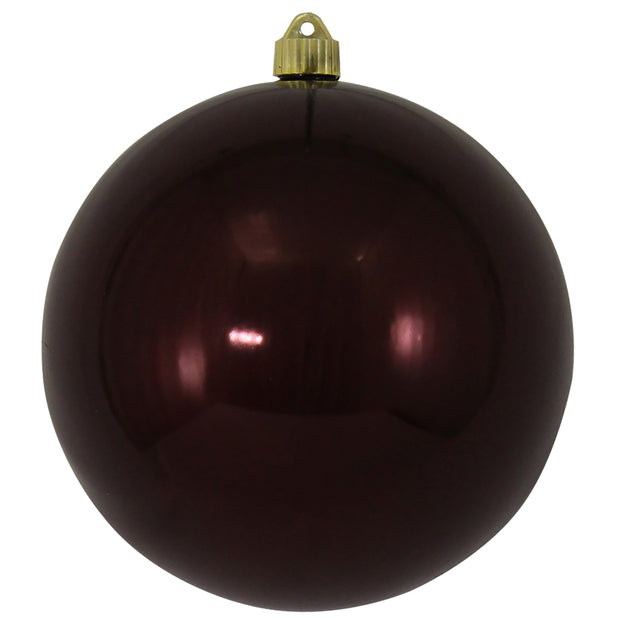 "8"" (200mm) Giant Commercial Shatterproof Ball Ornament, Hot Java, Case, 6 Pieces"