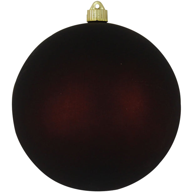 "8"" (200mm) Giant Commercial Shatterproof Ball Ornament, Cowboy Brown, Case, 6 Pieces"