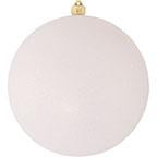 "12"" (300mm) Giant Commercial Shatterproof Ball Ornament, Snowball Glitter, Case, 2 Pieces - Christmas by Krebs Wholesale"